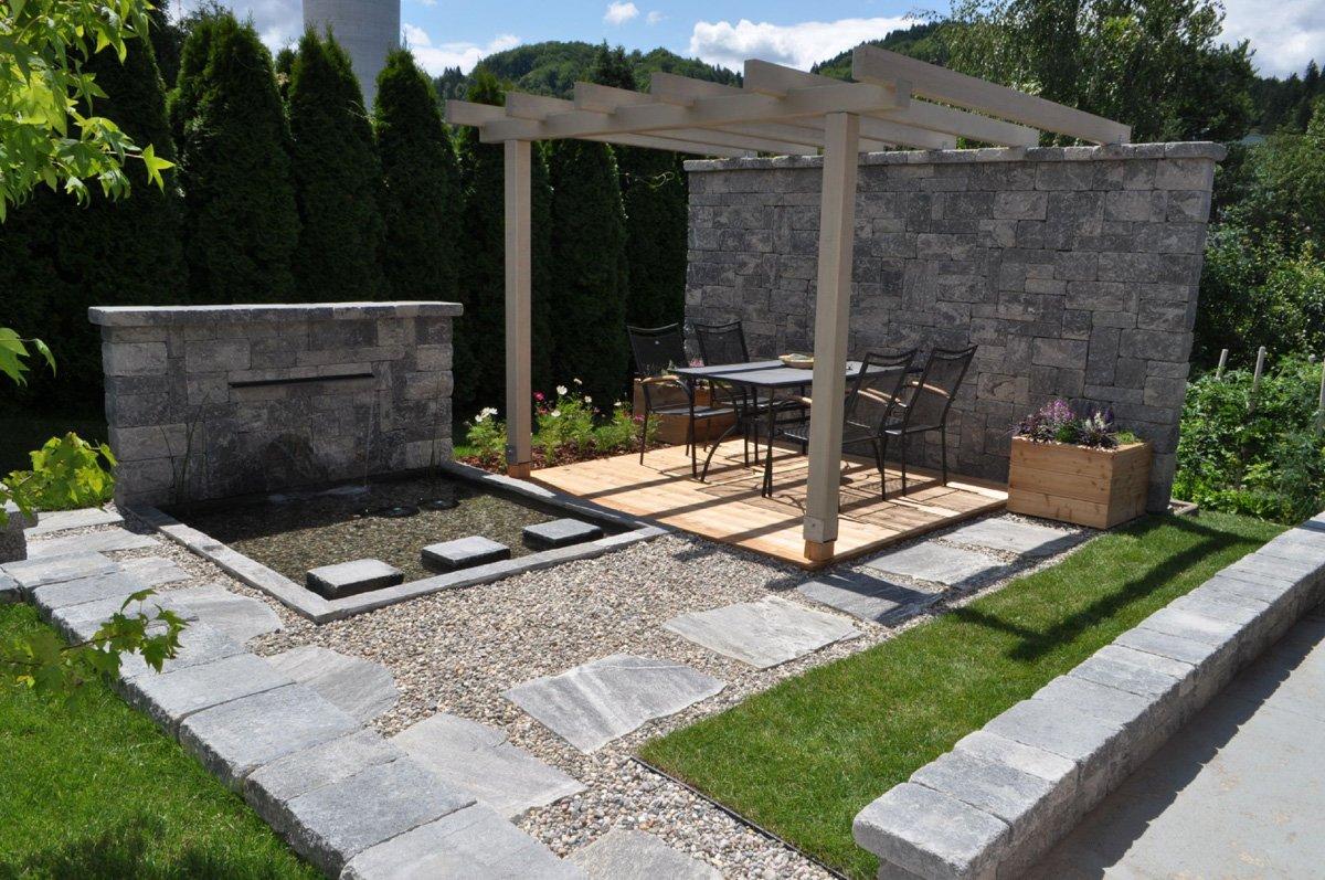 Verona mauer fr hwald aussenanlagen gmbh - Garten strukturieren ...
